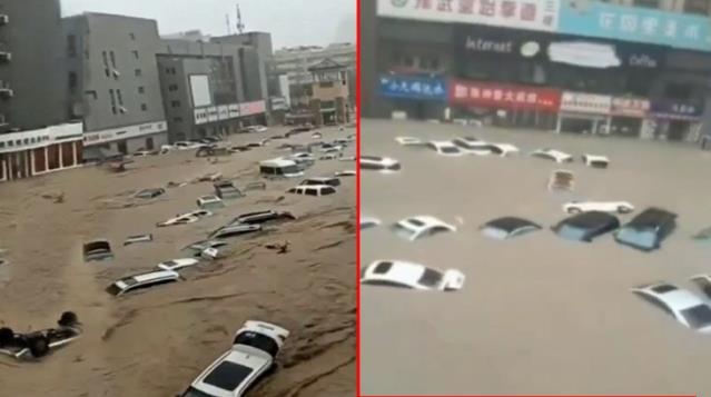 Çin'de sel yıktı, geçti! Bilanço her geçen dakika ağırlaşıyor
