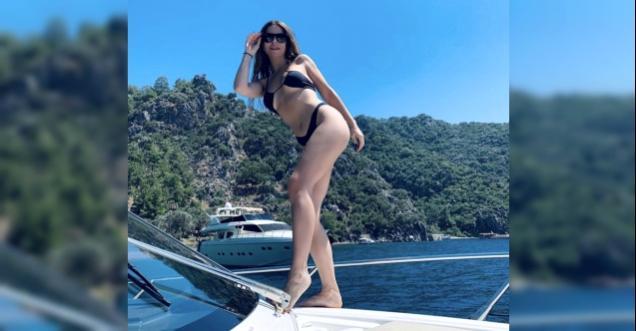 Simge Sağın'ın tekne fotoğrafları nefes kesti